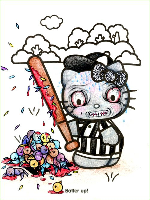 Guest Post Batter Up Hello Kitty Is Creepily Good With A