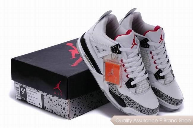 nike air jordan 4 white black redcement grey with plastic tag sneakers p  2902