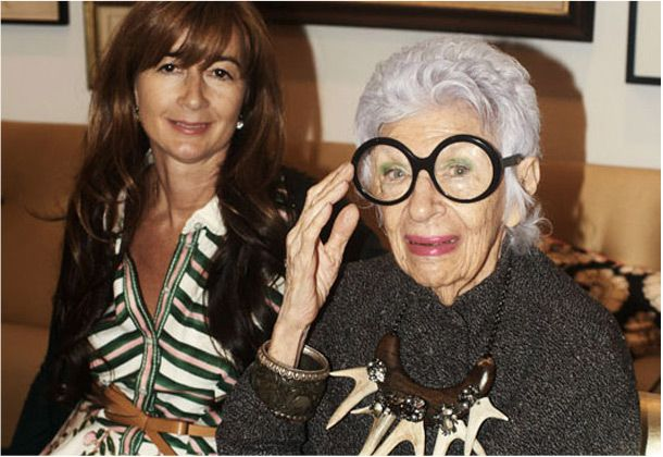 iris apfel, the grand dame of fashion, recently graced our offices for a day. see snapshots from her visit on our blog: http://bit.ly/MN6b5x