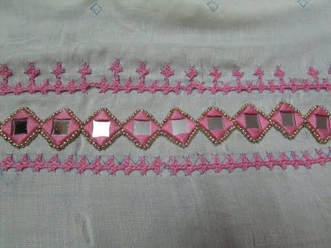Very Simple And Beautiful Hand Embroidery Mirror Work Design It