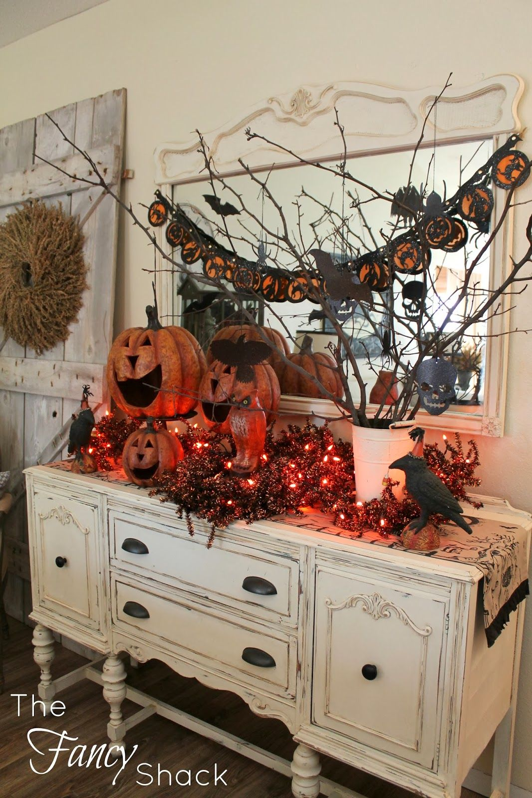The Fancy Shack Halloween Vignettes halloween Pinterest - Decorating For Halloween