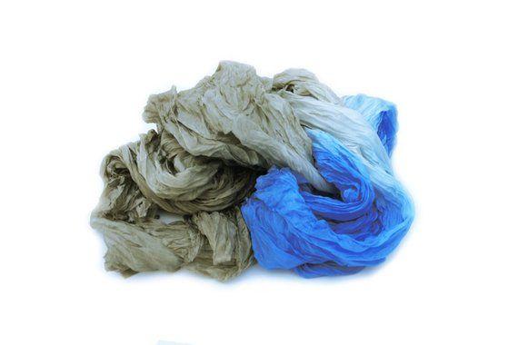 Beige Silk Scarf Wet Sand Wave Light Brown Beige Wet Etsy In 2021 Silk Pure Silk Scarf Silk Scarf