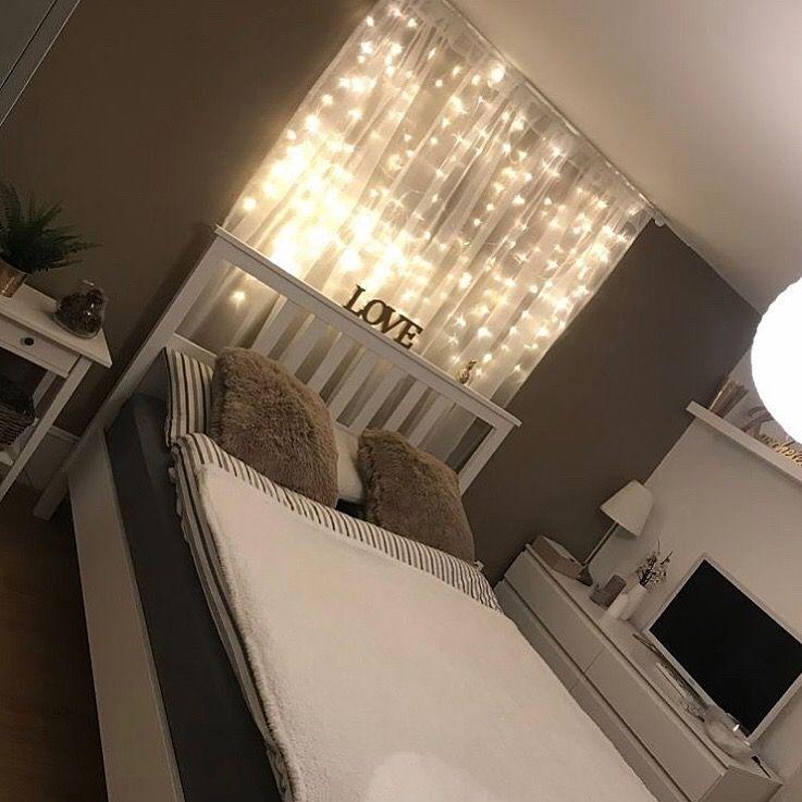 Curtain Led Lights Bedroom Decor Dream Rooms Room Ideas