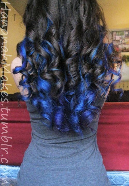 electric blue hair highlights - Google Search   hair   Pinterest ...
