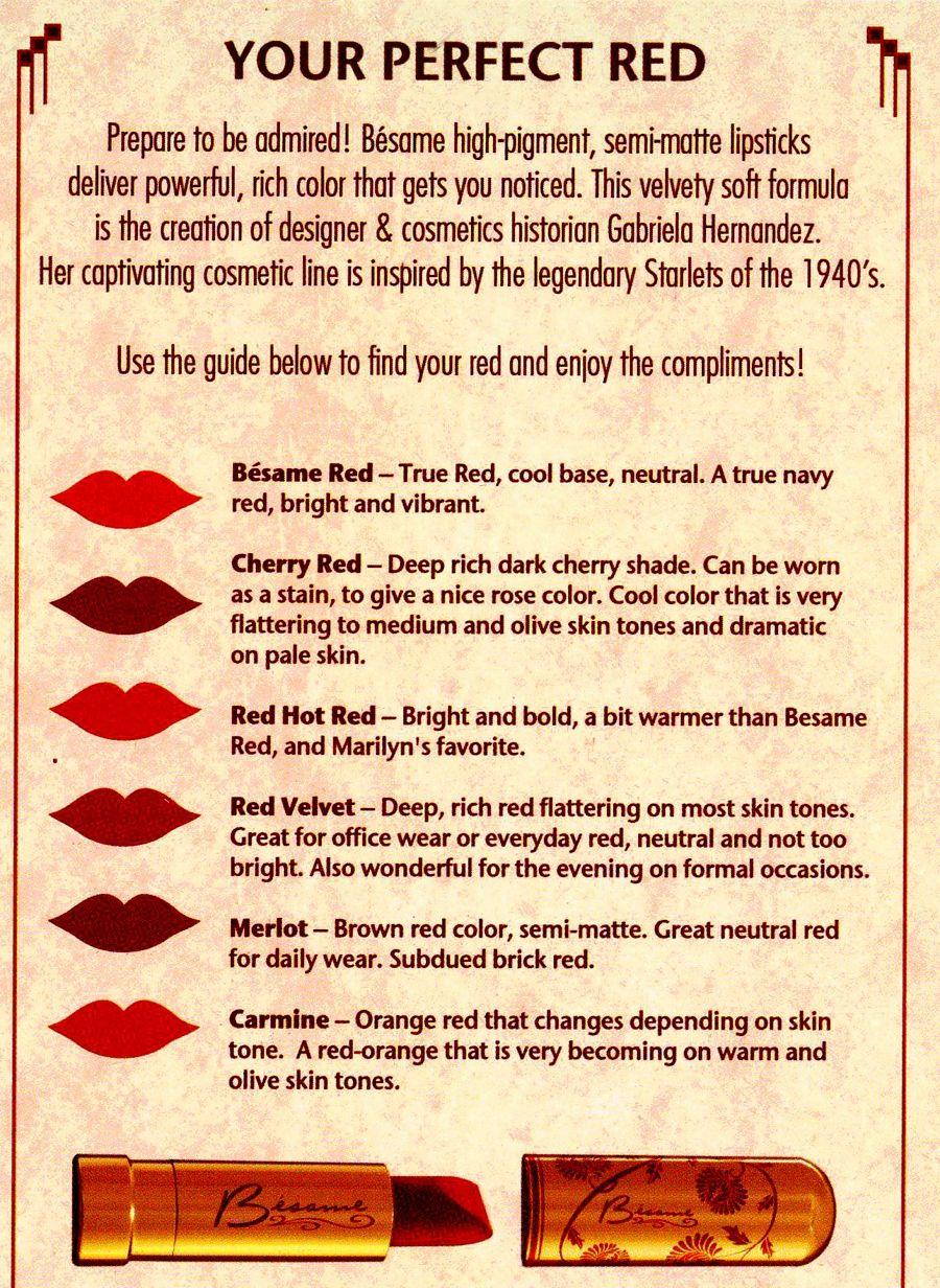 Besame Classic Color Lipstick in Red Velvet   Girl ...