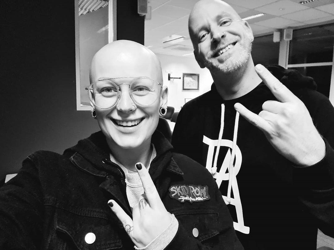 Celebrating 100 episodes of @rockhardwithphilandtish tonight! Tune in to @pbafm897 to hear these bald flogs rock it out 🤘❤ . . . . . . . . . . . #rockhardwithphilandtish #pbafm #socialmediaqueen #ringannouncer #womeninwrestling #ticiarose #adelaide #prowrestling #australianwrestling #alopecia #aussiewrestling #rocker #rockchick #glammetal #bald #baldgirl #rocknroll #heavymetal #glamrock #hairmetal #aussie #inked #tattooed #tattoo #inkedchick #rockqueen #80s #80srock #80srocker