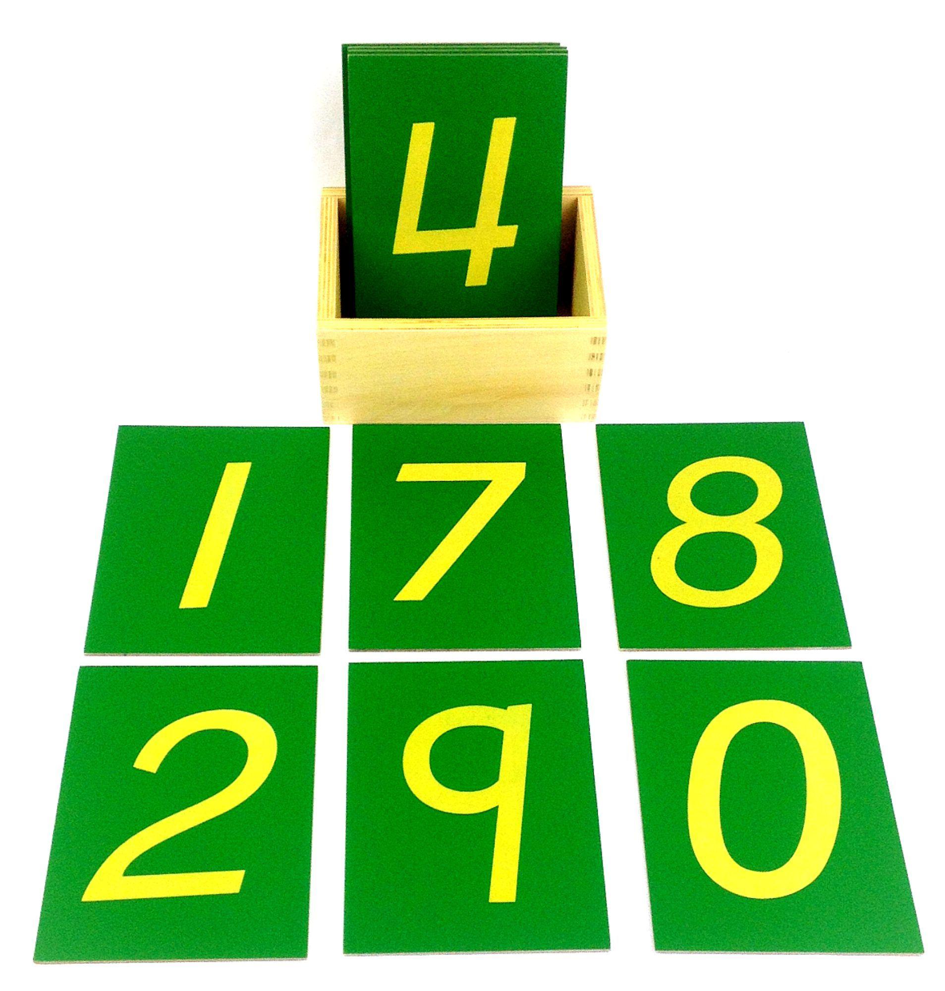 Large Sandpaper Numbers Montessori My Bright Bambino