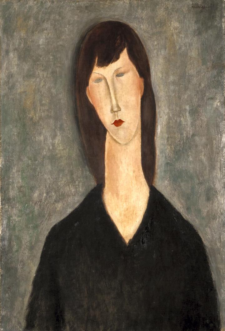 Amedeo Modigliani / Busto de mujer. Dimensions: w50 x h73 cm