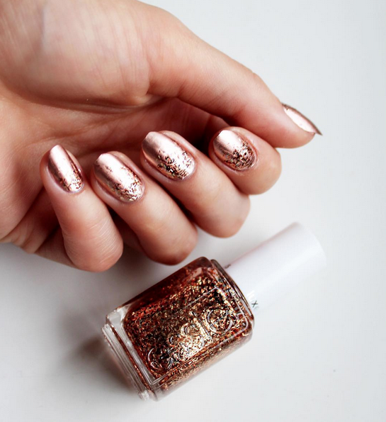 Make A Statement With Copper Metallic Nail Lacquer Topped Off Bronze Bar Glitter Hypnotize