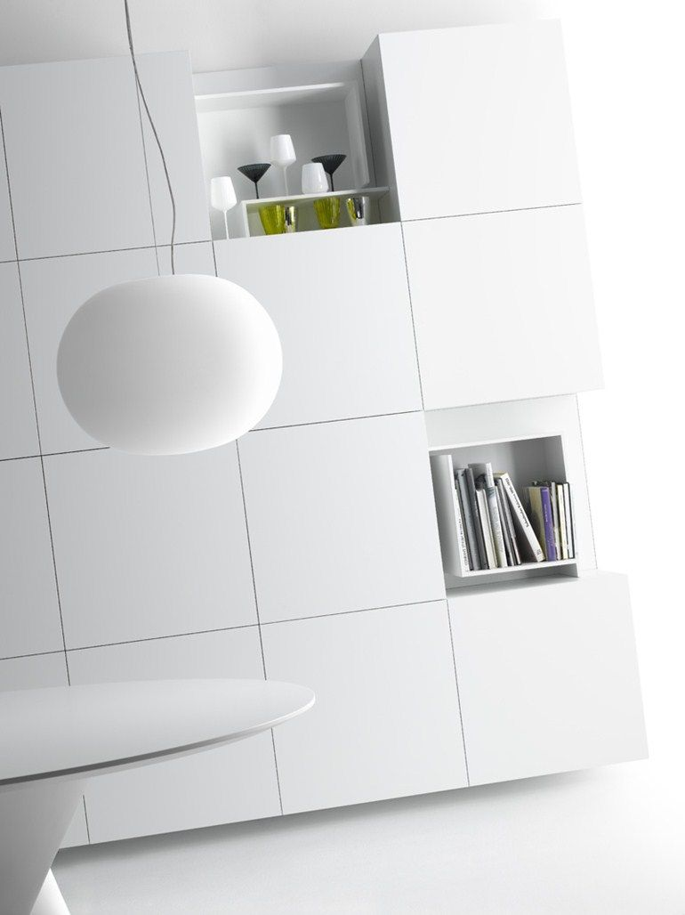 Sectional mdf storage wall vita by mdf italia design for Mobili mdf