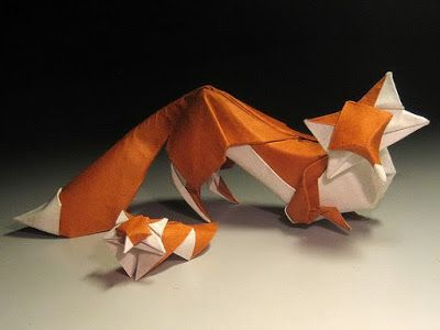 Origami Foxes | who or what I like /misc | Origami art