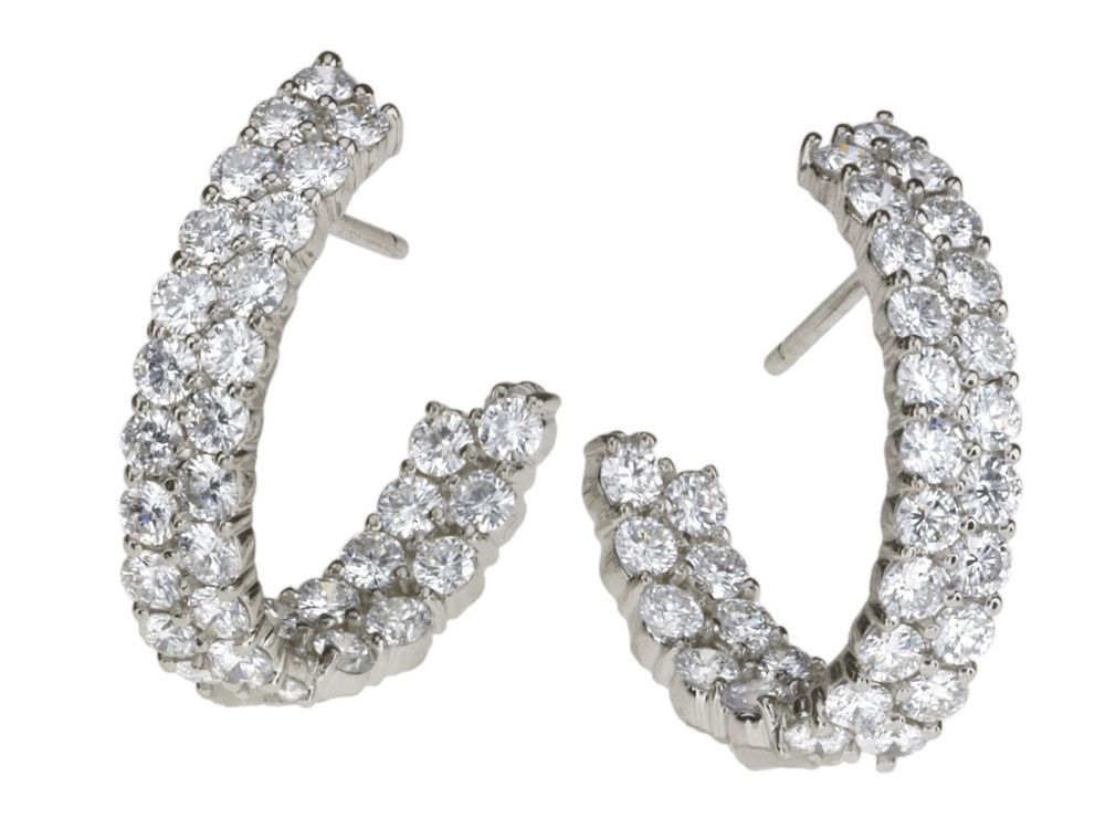 Gordon James Double J Hoop Diamonds Earrings Featuring Round Brilliant Cut Rings And Thingsdiamond