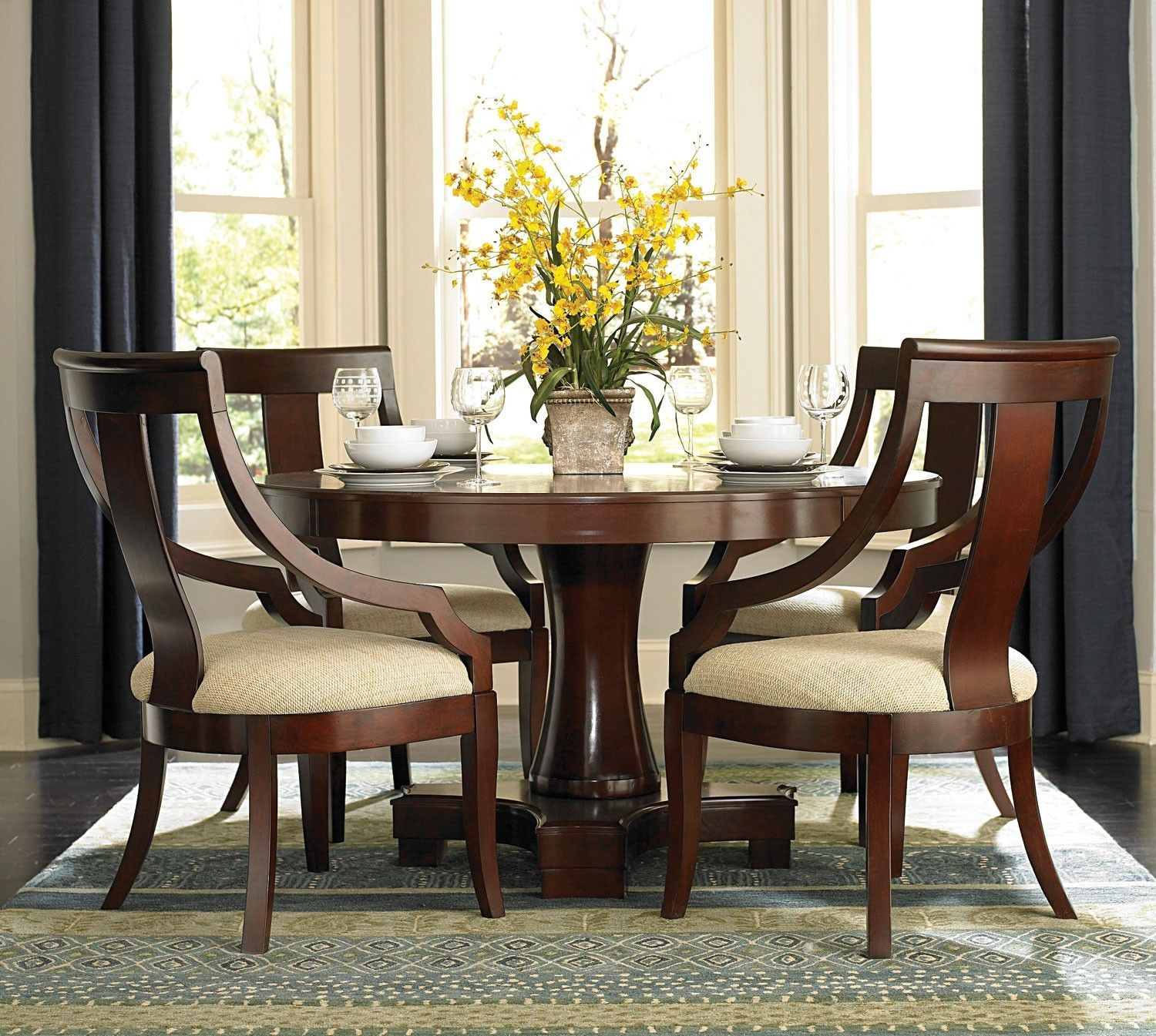 Dining Room Table Round Seats 8 Inspiration 8 Person Round Glass Dining Table  Httpargharts Design Inspiration