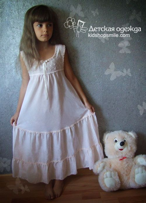 Ночная рубашка для девочки своими руками фото