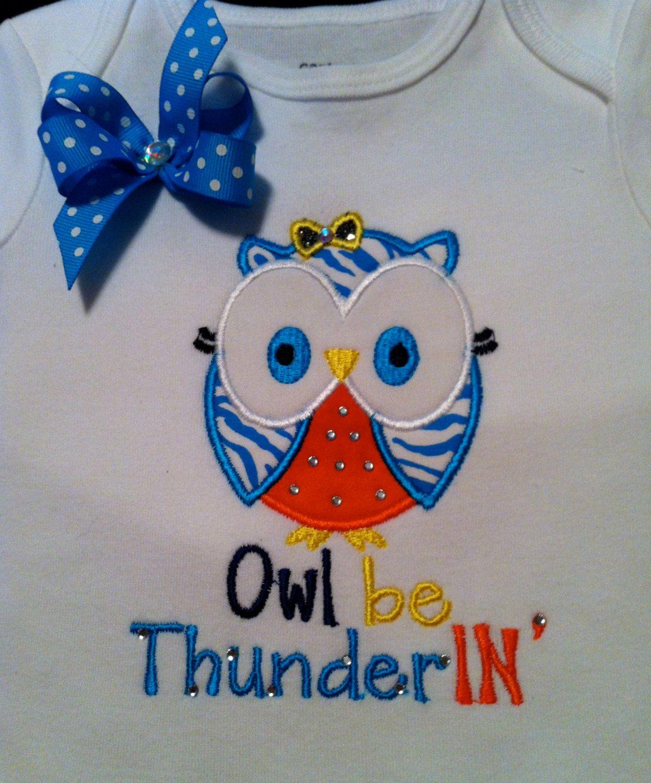 Owl Be ThunderIN' Girly Owl Ruffle Butt by Gametimebabyboutique