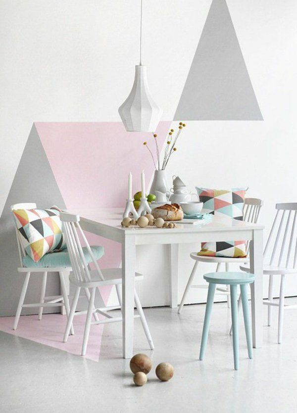 50 Pastell Wandfarben - schicke, moderne Farbgestaltung Pastell - wandgestaltung wohnzimmer grau lila