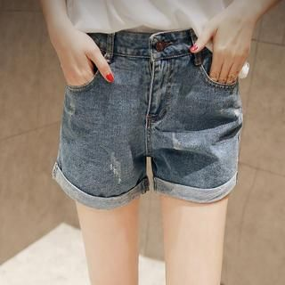 Cuffed Denim Shorts from #YesStyle <3 Sunny House YesStyle.com