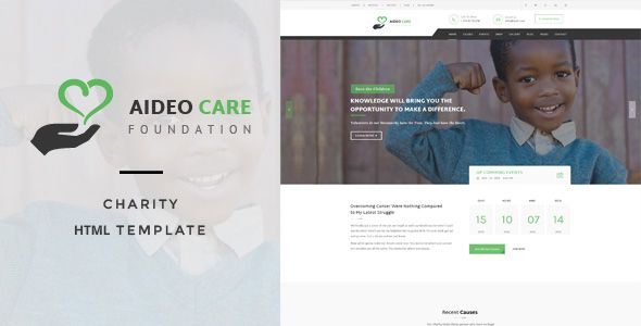 Aideo - Non-Profil Charity HTML Template Template - health history template
