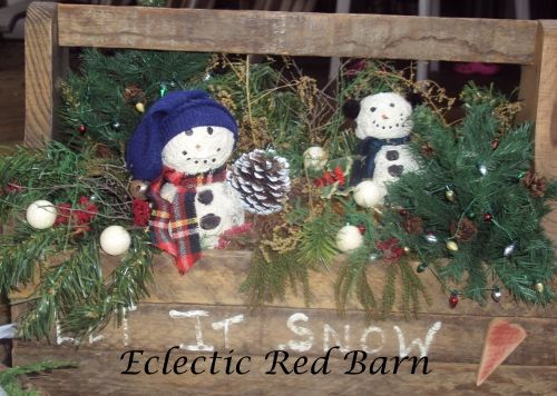 Toolbox with Snowman, Greenery and other Decor Christmas Decor