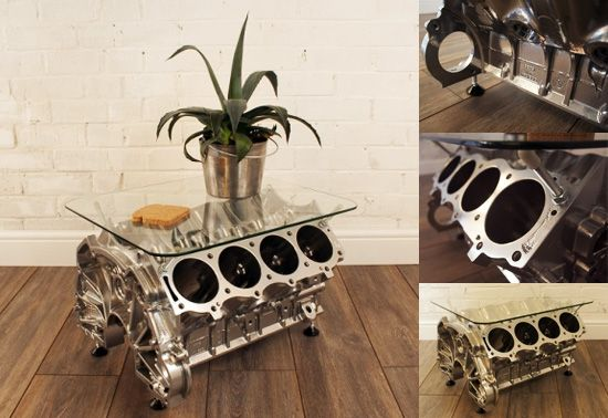 Jeremy V8 engine coffee table gift Ideas for the House Pinterest