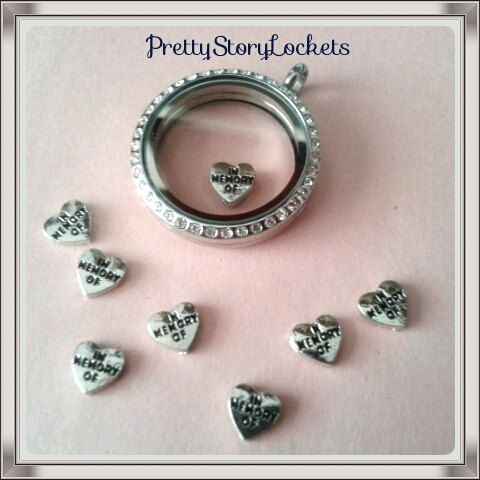 in memory of floating charms by prettystorylockets on etsy