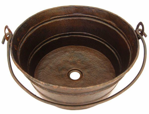 Copper Vessel Sink Bucket Style Cs 0172 Copper Vessel