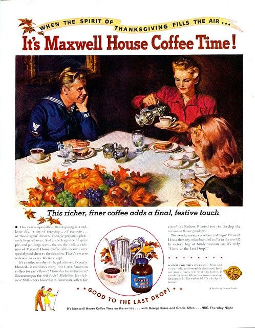 Vintage Ad When The Spirit Of Thanksgiving Fills Air