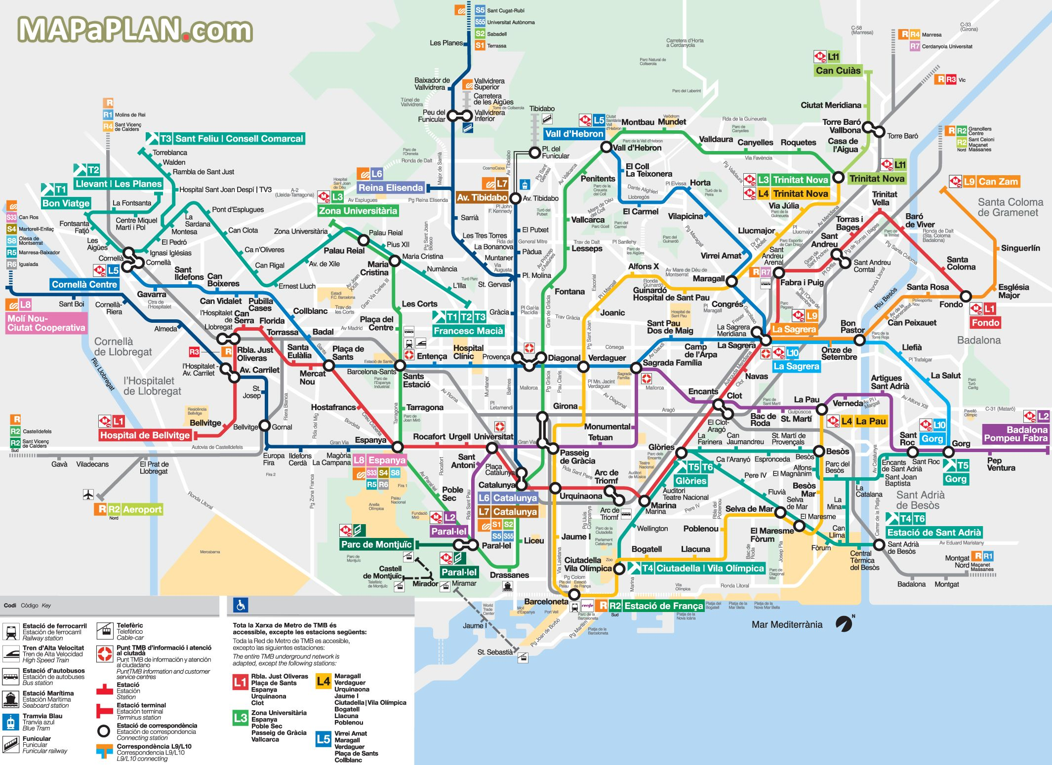 Metro Subway Tube stations visitors map with major streets overlay ...