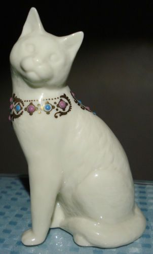 LENOX CHINA JEWELS COLLECTION JEWELED SITTING CAT MINT 1992 USA