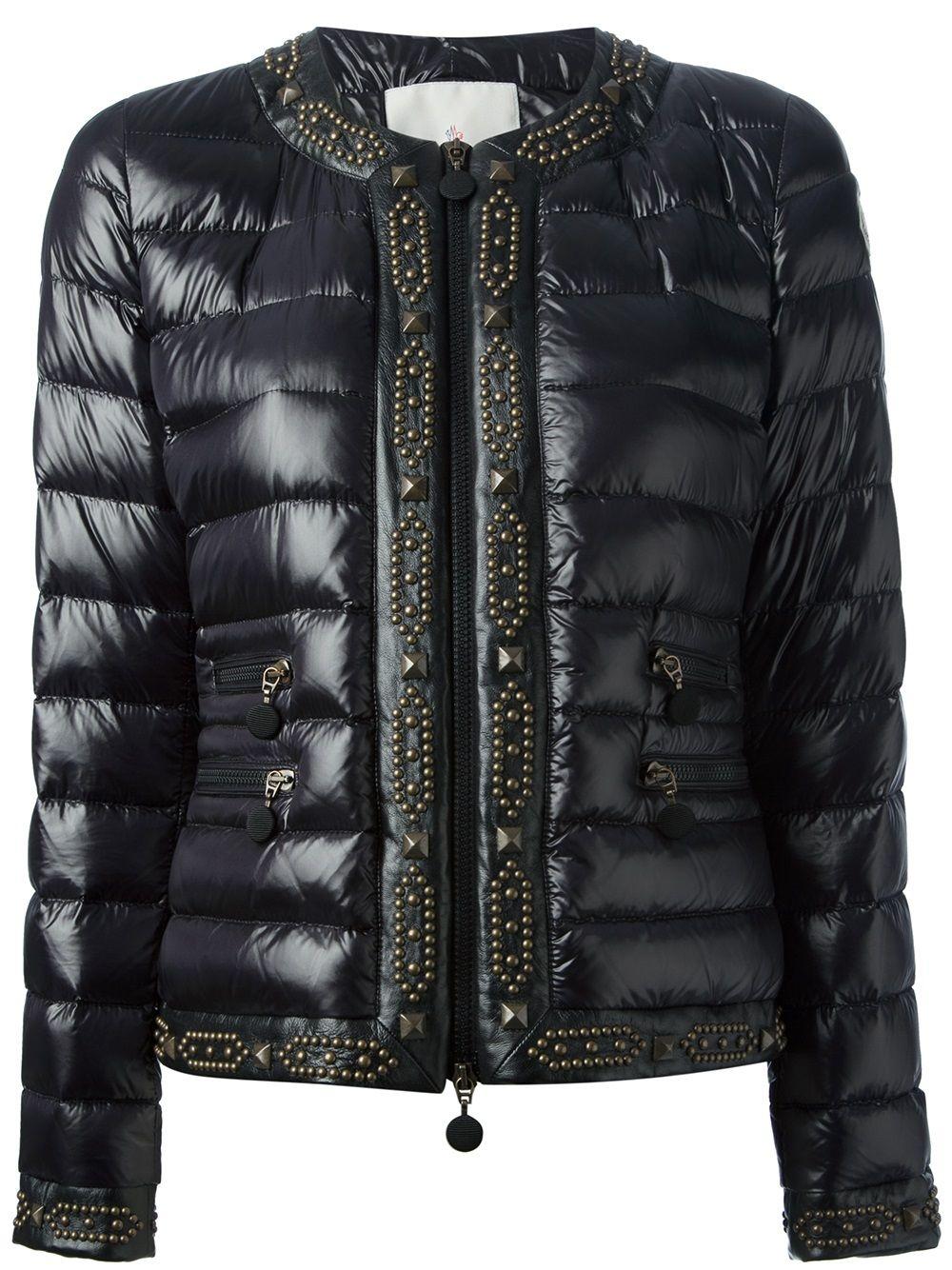 MONCLER Black geather Roseau jacket moncler
