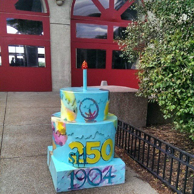 Stl250 Worlds Fair Pavilion Birthday Cake Cakeway To The West