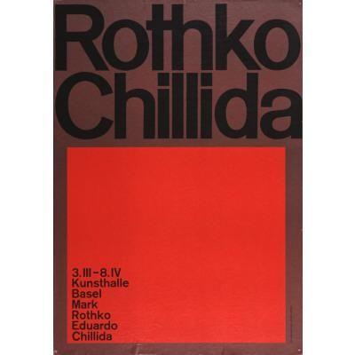 Kunsthalle Basel Rothko Chillida Plakat Chillida Disenos De Unas Eduardo Chillida