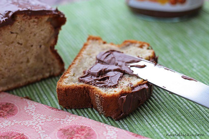Banana Nutella Bread / Banánový chlebíček s nutellou | Na vidličku food blog