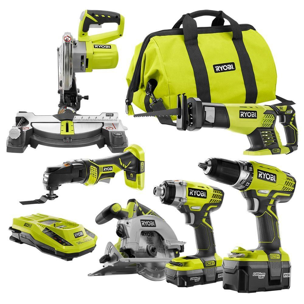 Ryobi 18-Volt One+ Lithium-Ion Cordless Combo Kit (6-Tool) | Products