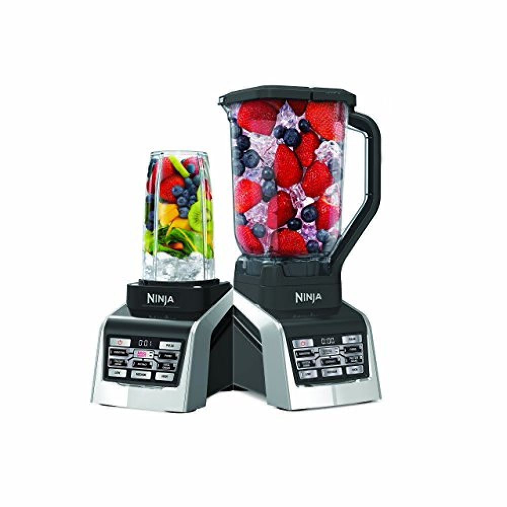 Nutri Ninja Countertop Blender With 1600 Watt Auto Iq Boost Base With 88oz Total Crushing Pitcher 2 24 And 1 16oz Cups With Spout Lids Bl2013 Renewed In 2020 Nutri Ninja Blender Ninja Blender Reviews