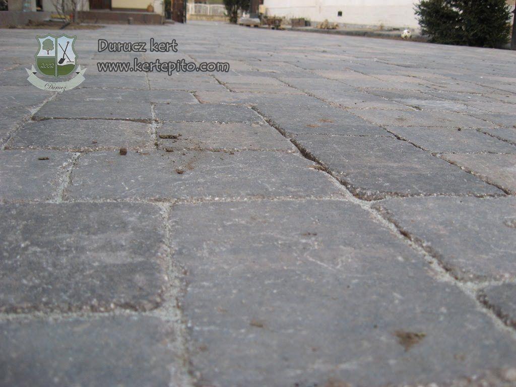 JV Raszter Vezúv Antik térkő lerakása - Durucz kert