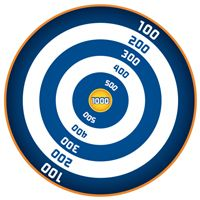 It's just an image of Eloquent Nerf Target Printable