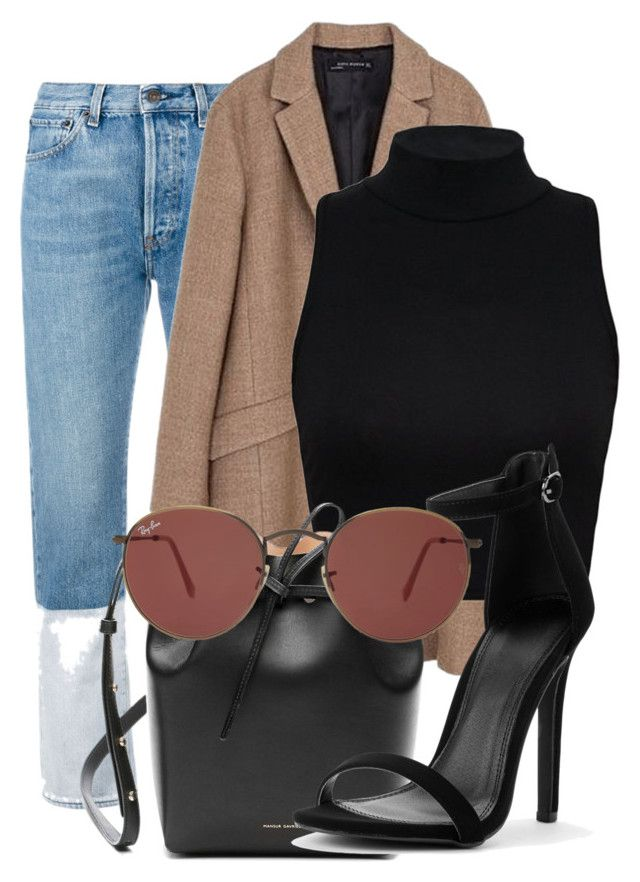 """Untitled #1044"" by ellamidge ❤ liked on Polyvore featuring Ports 1961, Zara, Mansur Gavriel and Ray-Ban"