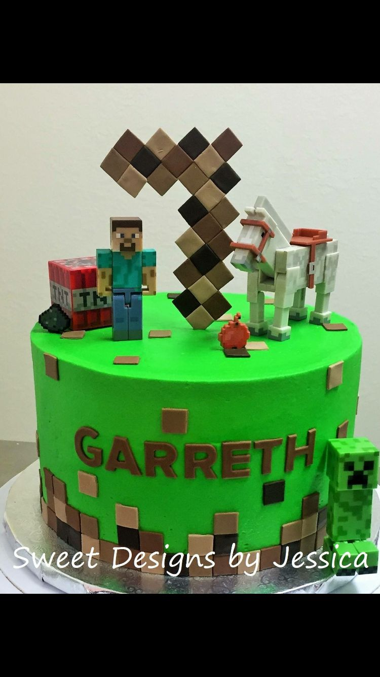 Minecraft cake My Cakes Pinterest Minecraft cake Cake and