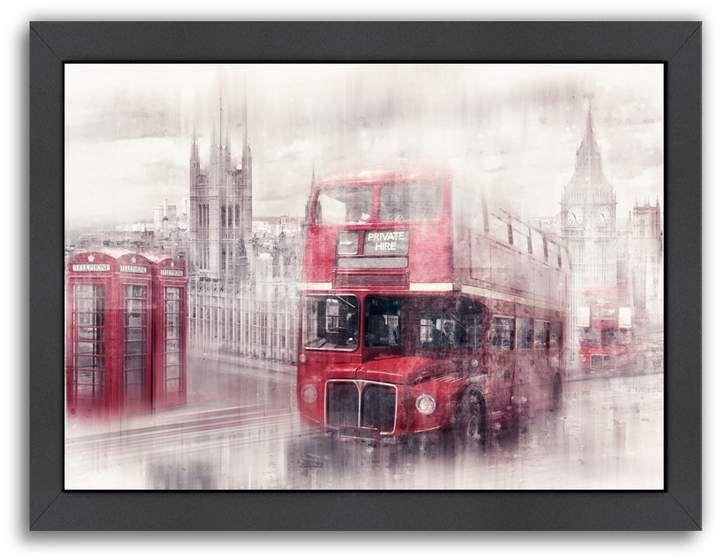 Photo of Americanflat Metropolis Artwork London Westminster Collage Framed Wall Artwork