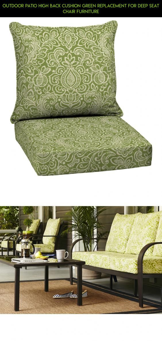 Outdoor Patio High Back Cushion Green Replacement For Deep Seat Chair  Furniture #furniture #back