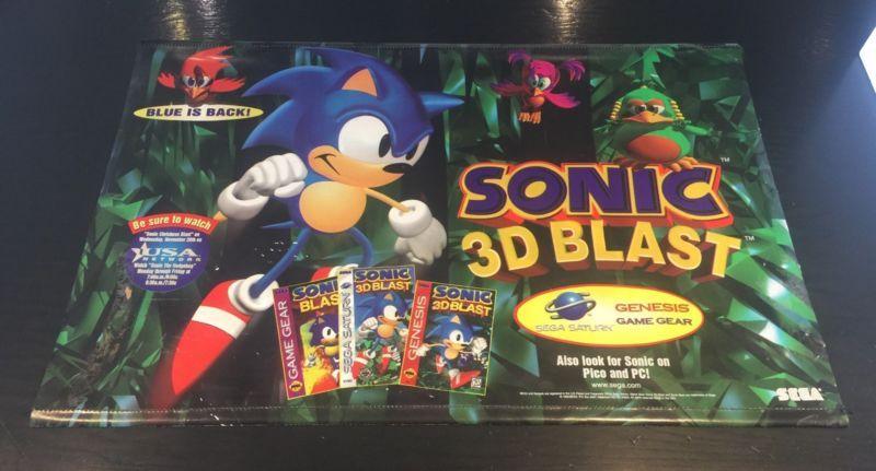 Vintage Sega Sonic 3D Blast promo Vinyl Banner #retrogaming