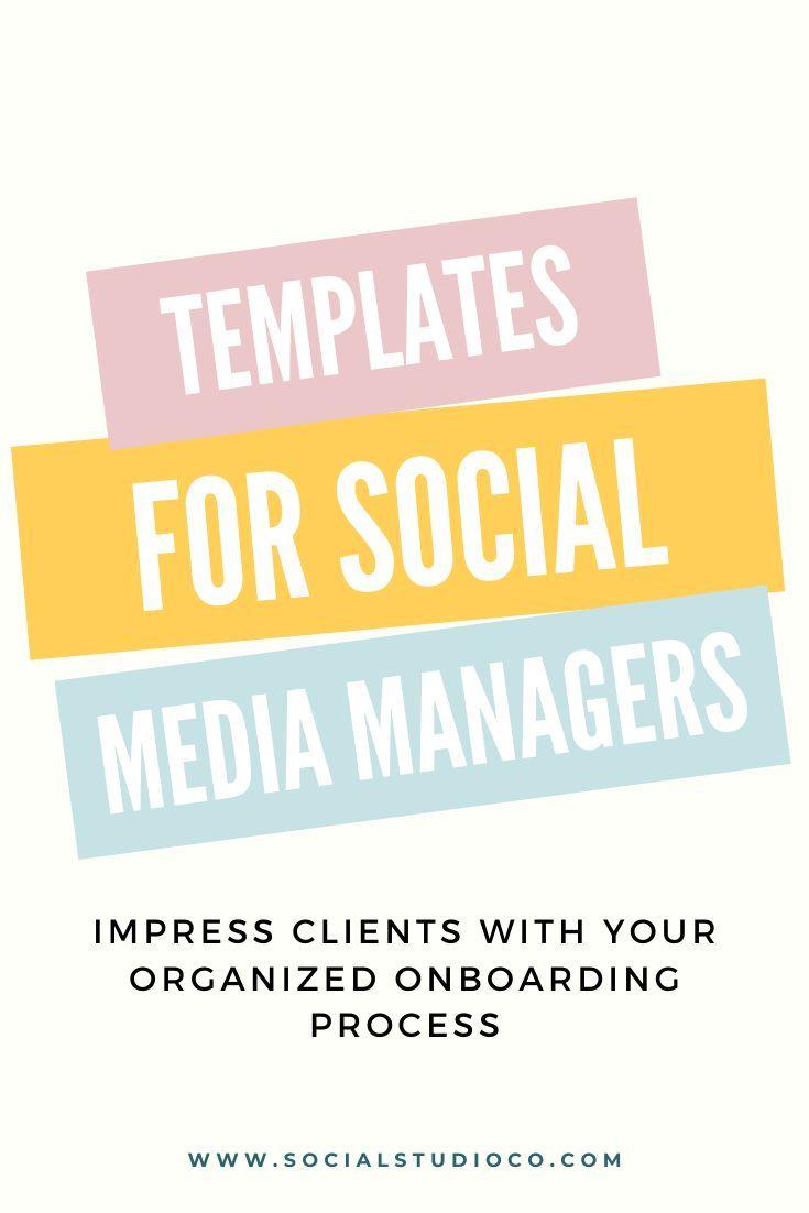Social Media Manager Templates | Social Media Prop