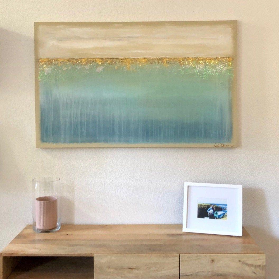 Comment Faire Du Gris Argenté En Peinture ora birenbaum art, peintures, bleu, argent, gris, abstrait