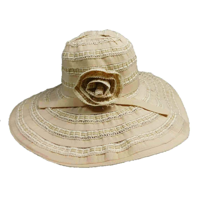 c96a4f4a7c482 Ribbon and Lace Big Floppy Hat — SetarTrading Hats