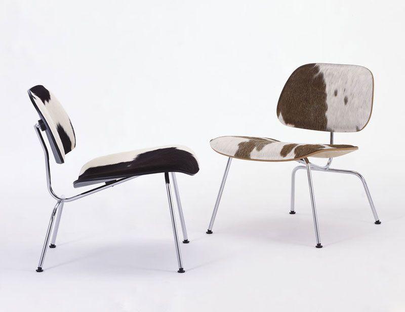 Vitra LCM Calf's Skin ontworpen door Charles & Ray Eames. Bekleed met hoogwaardig kalfsleder #design #vitra #vacht #loungestoel #fauteuil