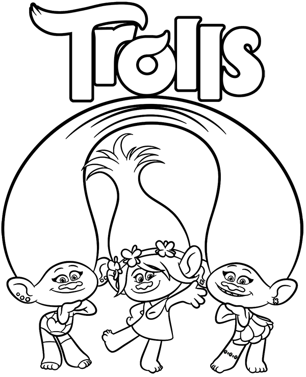 Trolls Satin Andc Henille Coloring Page Coloring Pages For Kids Coloring Pages Disney Coloring Pages