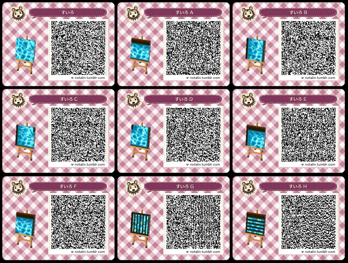 water ACNLQR Animal crossing 3ds, Animal crossing qr