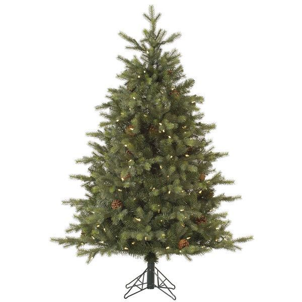 Pre-Lit LED Rocky Mountain Fir Christmas Tree