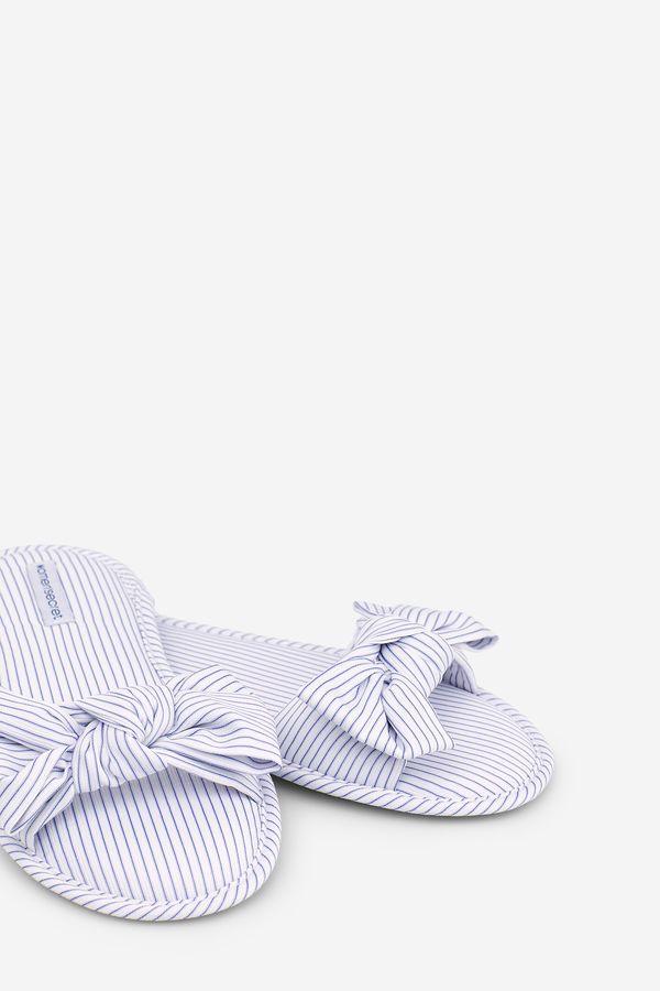 venta limitada moderno y elegante en moda nuevo concepto Womensecret Zapatillas a rayas con lazo beige   moda ...